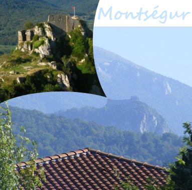 Location vacances maison Pereille: ch�teau de Monts�gur